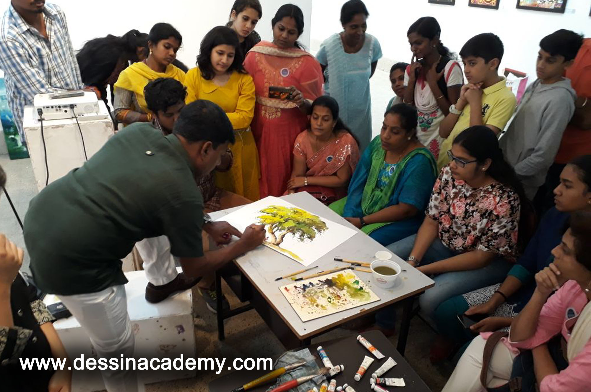 Dessin School of arts Event Gallery 6, oil painting Coaching for adults in AdyarTime kids Pre-School