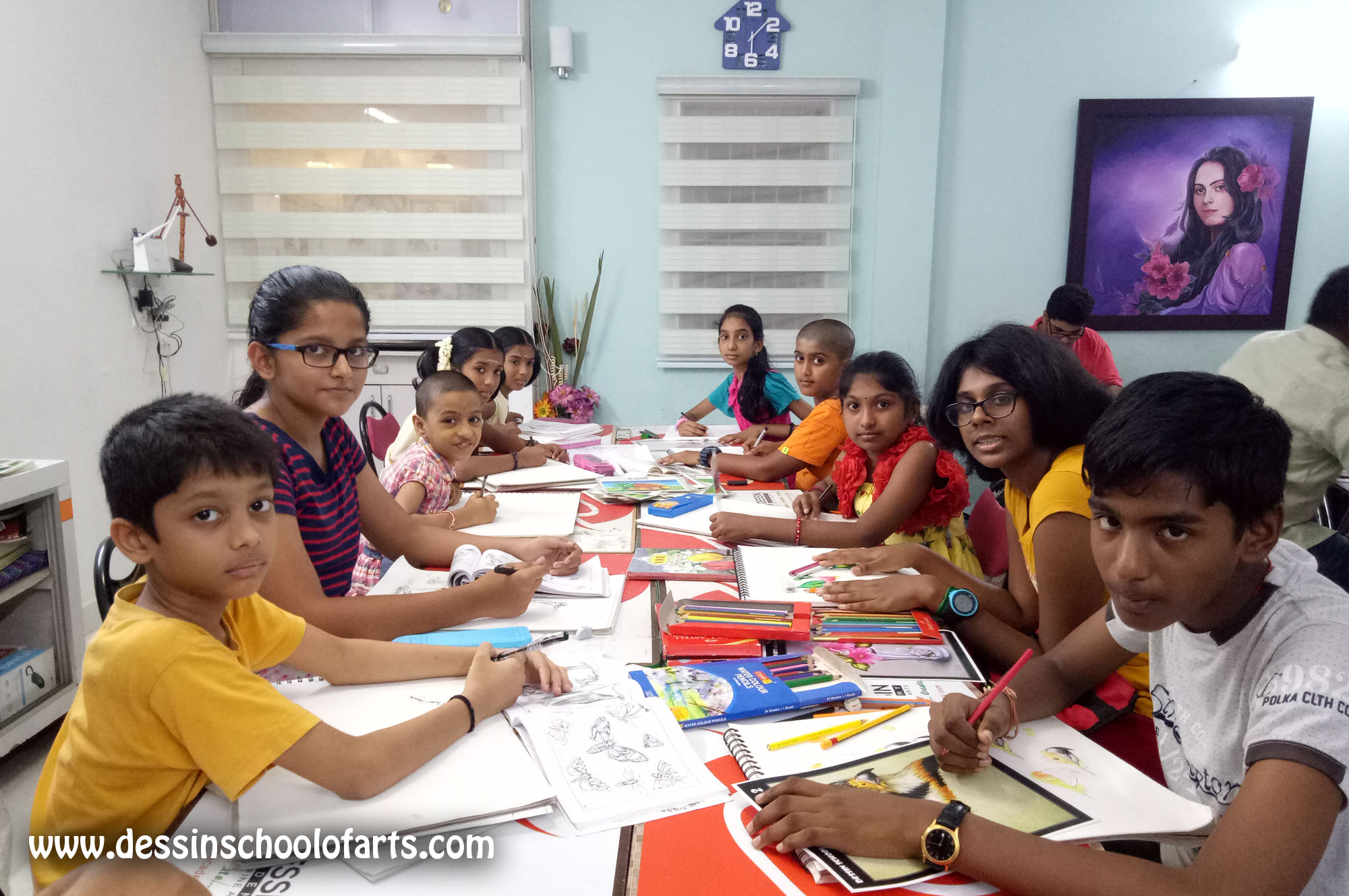 Dessin School of Arts, Dessin School of Arts, sketching classes For Kids in Anna Nagar East L Block Class Room Photo 2