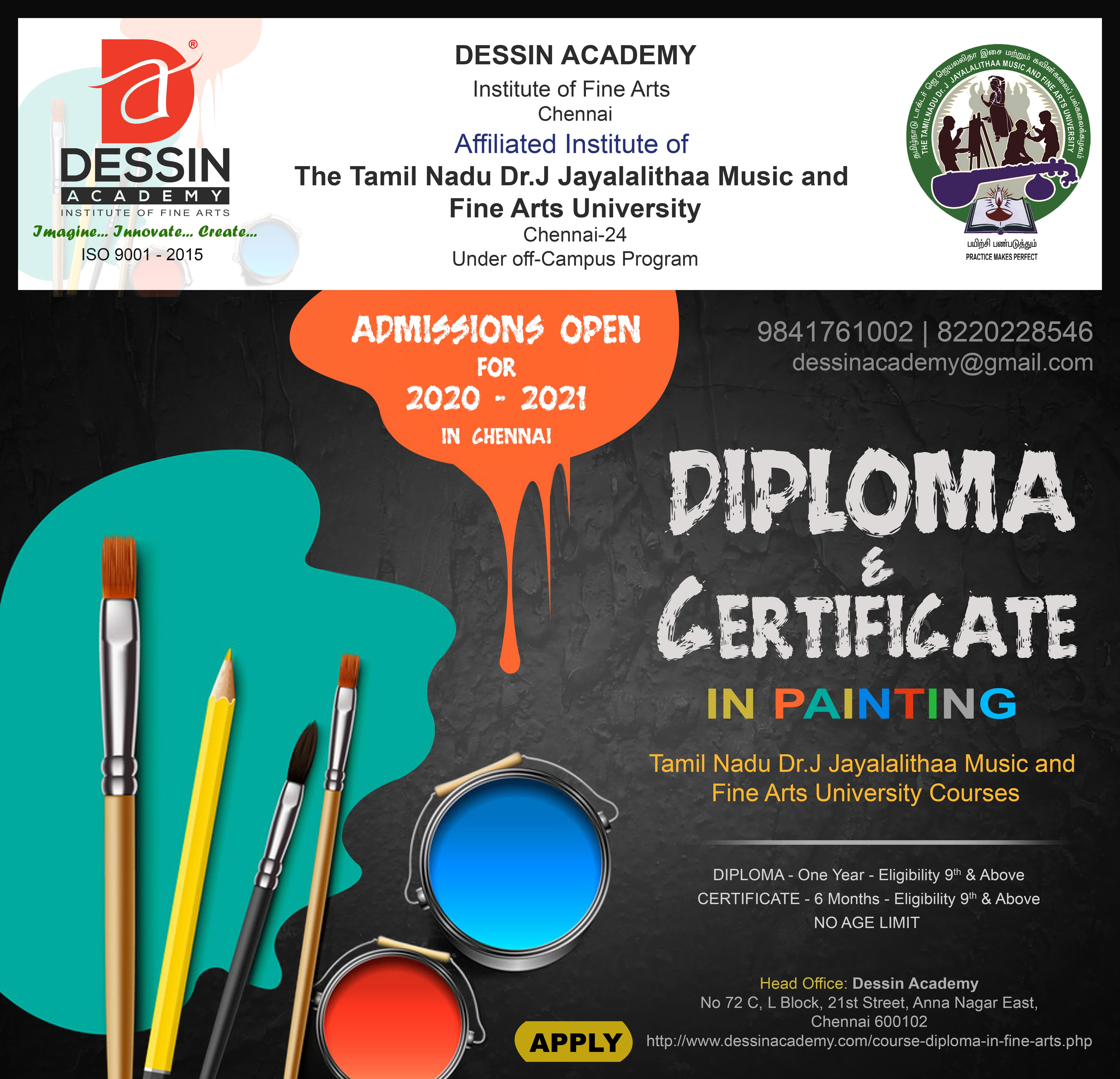 Dessin Academy Diploma In Painting Diploma In Fine Arts Painting Diploma In Fine Art For Adult Colouring Intermediate Course For Kids Drawing And Painting Classes In Chennai Art Classes In Chennai Drawing Classes